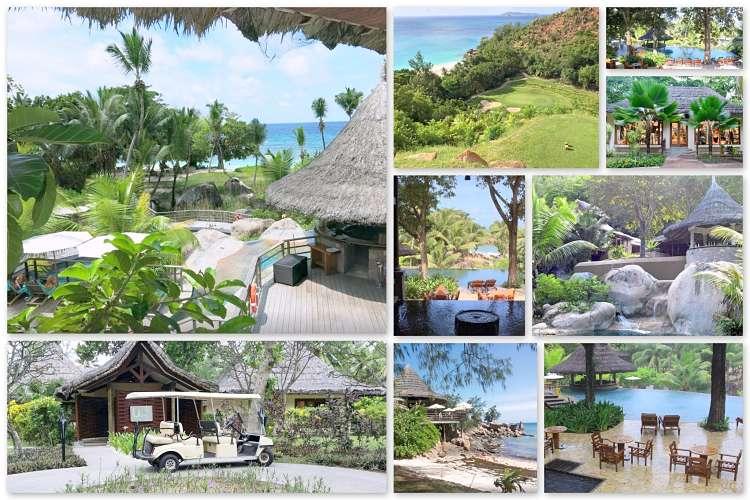 Die Hotelanlage des Lemuria Seychellen