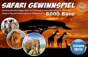 Safari Gewinnspiel