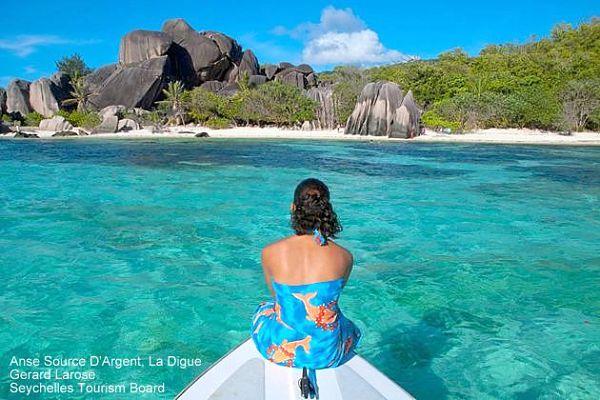 Seychellen La Digue Strand